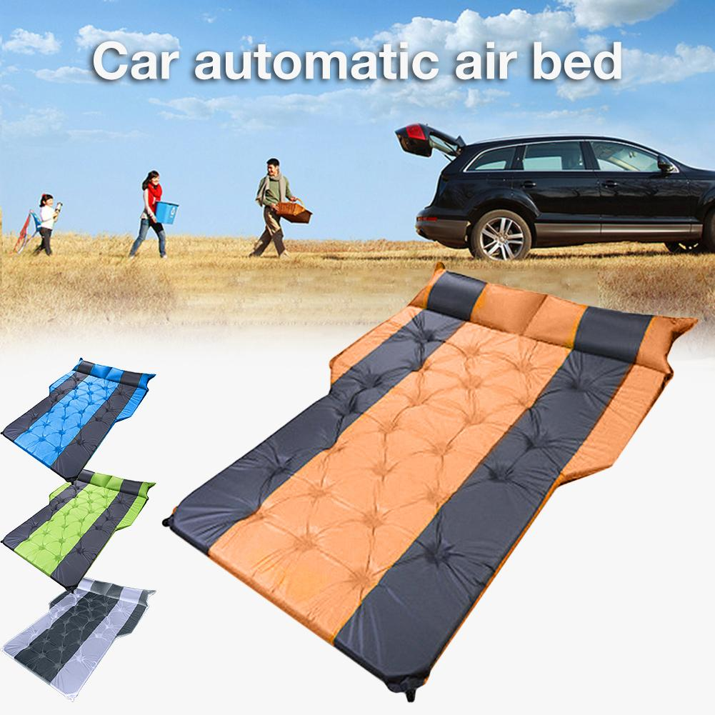 Car Air Bed SUV Trunk Travel Air Bed Air Mattress Outdoor Camping Mattress Automatic Portable Air Mattress