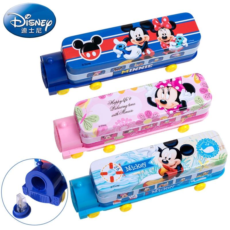 Hot Sales Creative Cartoon Children Locomotive Iron Stationery Case Genuine Product Cartoon Pencil Sharpener Pencil Case