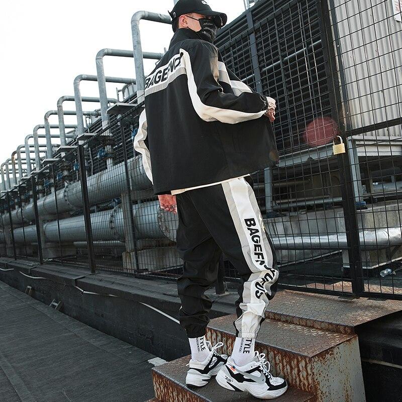 Мужской спортивный костюм уличная одежда комплект из двух предметов