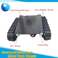 Big Load Metal Tank Chassis 15kg Load Heavy off road Vehicle Crawler Tracked Excavator Robot Chassis RC DIY Toy T007