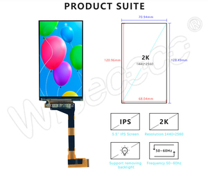 Image 3 - LS055R1SX03 5.5 אינץ 2k IPS LCD מודול 2560*1440 LCD מסך תצוגת HDMI כדי MIPI לוח עבור VR LCD WANHAO D7 3d מדפסת מקרן