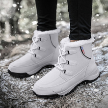 New Women High Top Non-slip Wear Snow Boots Outdoor Breathable Waterproof Hiking Plus Velvet Warm Mujer Climbing Sneakers