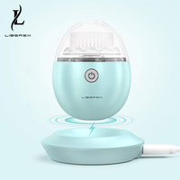 Liberex Mint Green Electric Facial Brush Face Skin Care Tool Soft Deep Pore Cleansing Silicone Brush Head Sonic Cleanser Massage 1