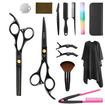Profesjonalne nożyczki do cięcia włosów nożyczki fryzjerskie nożyce do cieniowania włosów narzędzia tnące wysokiej jakości nożyczki do włosów tanie i dobre opinie Dr Sharp 6 cal STAINLESS STEEL CN (pochodzenie) 4cr13