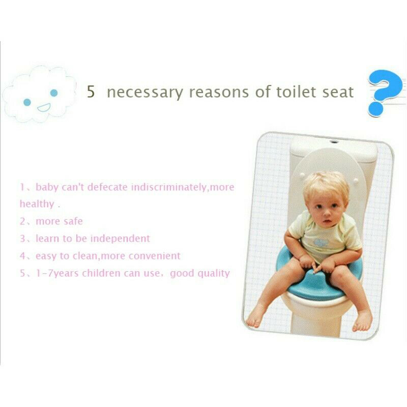 Kids Toilet Seat Baby Safety Toilet Chair Potty Training Seat EIG88