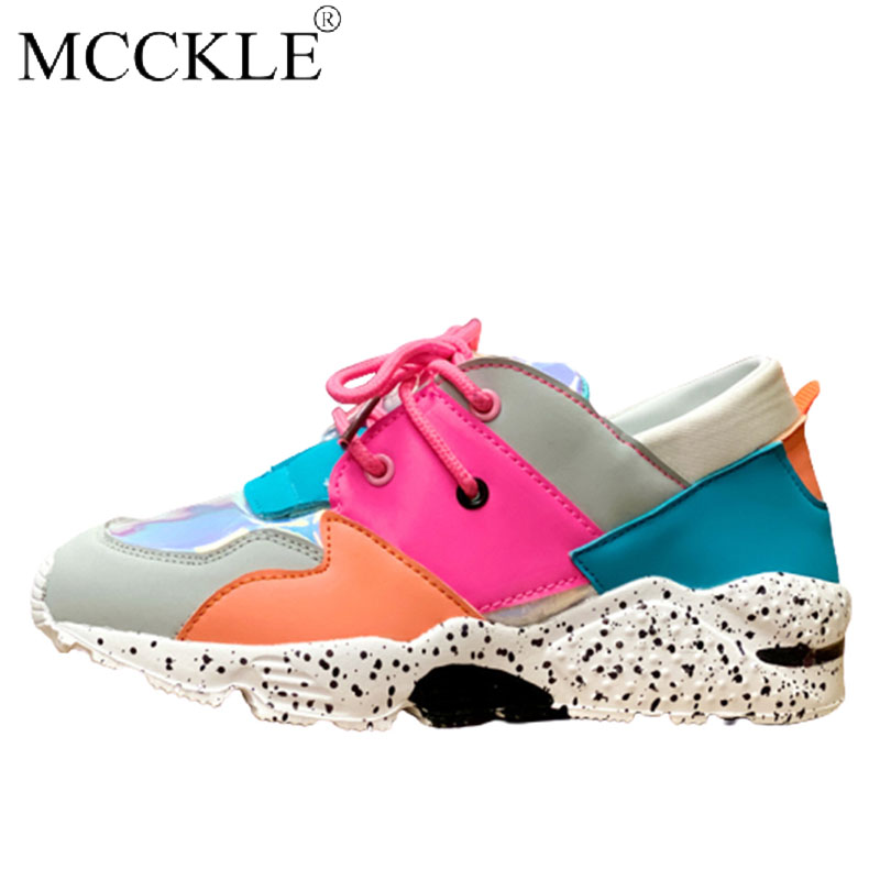 Women Vulcanized shoes Sneakers Ladies Colorful Lace Up Air Female Platform Autumn Fashion Comfortable Casual Footwear