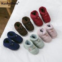 Kushyshoo dziecięce buty 2020 All-match Warm Plus Velvet zagęścić śniegowe buty wodoodporne antypoślizgowe wielokolorowe zimowe kapcie z bawełny