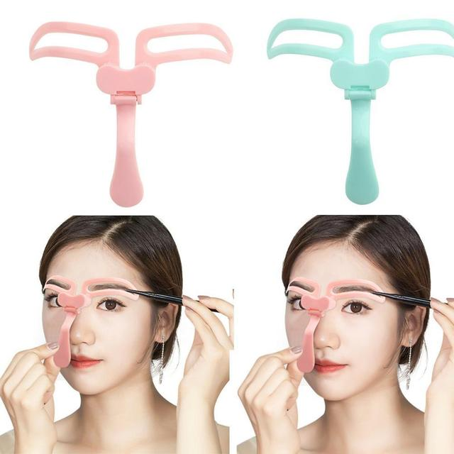 Hot Sell Makeup Eyebrow Stencils Professional Beauty Template Tools Eyebrow Cosmetic Drawing Shaper Kit Grooming L9I2