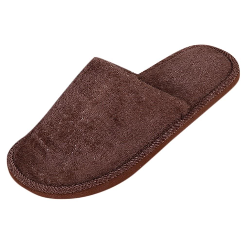 Мужские теплые домашние плюшевые мягкие тапочки в помещении противоскользящие зимние тапочки для спальни повседневные мужские кроссовки теплые меховые# YL5 - Цвет: Хаки