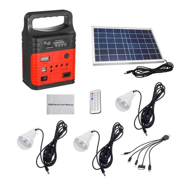 3 LED Solar Lighting System Kit 7500mAH USB Charging Household Generator Kit Outdoor Power Supply MP3 Radio Flashlight Emergency 2