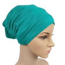 Inner Hijab Caps Headband Turban-Cap Underscarf Islamic Bonnet-Hat Stretch Muslim Fashion