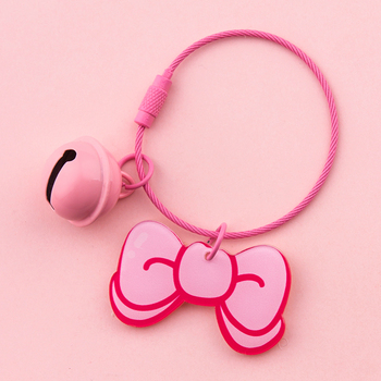 Cute Key Chain Girl Women Kawaii Keychains Heart Flowers Shape Key Ring Holder For Gift Bag Charms Pendant Jewelry Accessories image