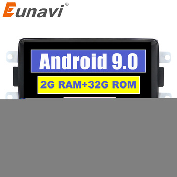 Eunavi 1 Din Android 9.0 car dvd radio for Renault Dacia Duster Sandero Lodgy Dokker stereo gps navigation no cd multimedia IPS