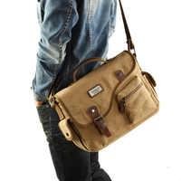Torba męska Canvas New Fashion Crossbody torby pakiet młodzieżowy wielofunkcyjny Rusksack męski Tote męskie torby na ramię 2019 torba