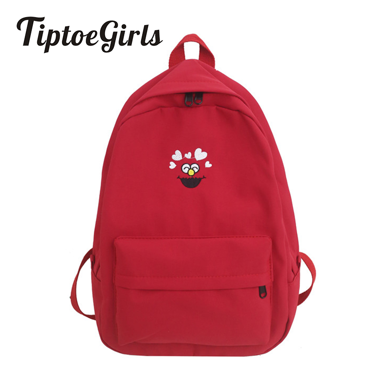 Lady Backpack Travel-Bags College Casual Fashion Cartoon Woman's Printing Young Popular