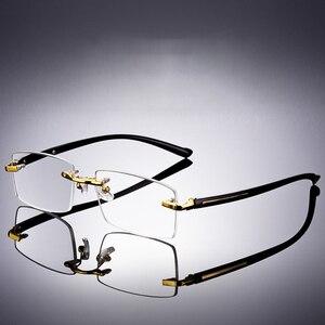 Image 5 - Vazrobe Reading Glasses Men Glass Lens Anti Scratch Diopter Sunglasses Man Rimless Crystal Anti Eye Dry Eyewear