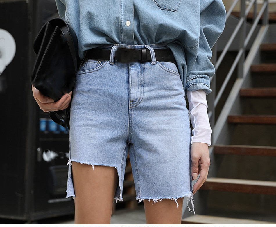 Fashion Nice Women Vintage Ripped Denim Shorts Streetwear Washing Summer Jeans Shorts Irregular Club Shorts