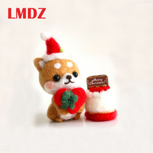 Kitting LMDZ Doll Poked Felting-Material Wool Felt Handcarft Non-Finished Cute Dog Package