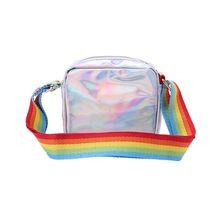 Женские, для девушек, Радужный плечевой ремень, сердце, лазер, водонепроницаемые сумки, через плечо, X7XC