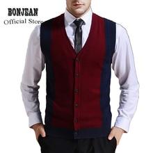 Свитер пуговицы для кардигана пуховая вязанная куртка жилет для мужчин без рукавов шерсть стильный модный пэчворк красный серый