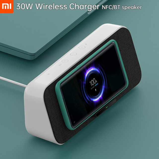 Altavoz y cargador inalámbrico Xiaomi - Mi Wireless Charge Bluetooth Speaker 30W 1