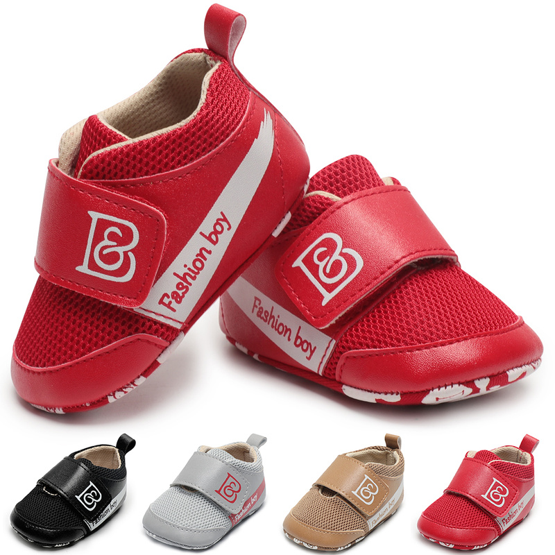 Infant Baby Boy Girl Shoes Hook & Loop PU Leather Sneaker Anti-slip Sole Soft Light Newborn Toddler Outside First Walkers Kid