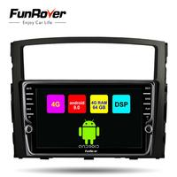 Funrover 8 core 2 din Android 9.0 car multimedia dvd player For Mitsubishi Pajero V97 V93 2006 2015 DSP radio gps navigation LTE