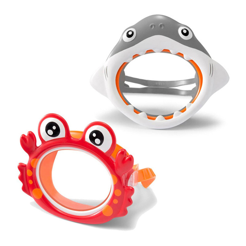 Interesting Animal Masks Anti-allergic PVC Plastic Masks Swimming Goggles Diving Goggles With Crab And Shark Sculptures