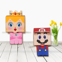 120pcs Super Marie Bros princess Bride and Groom wedding mario candy box baby shower birthday party supplies Chocolate gift box