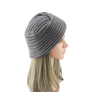 Image 2 - הודו צלב סרוג טורבן כובע נשים של סתיו כובע חורף כובע לנשים קשמיר בימס כובעי עבור בנות כובעים מוסלמיים czapka zimowa