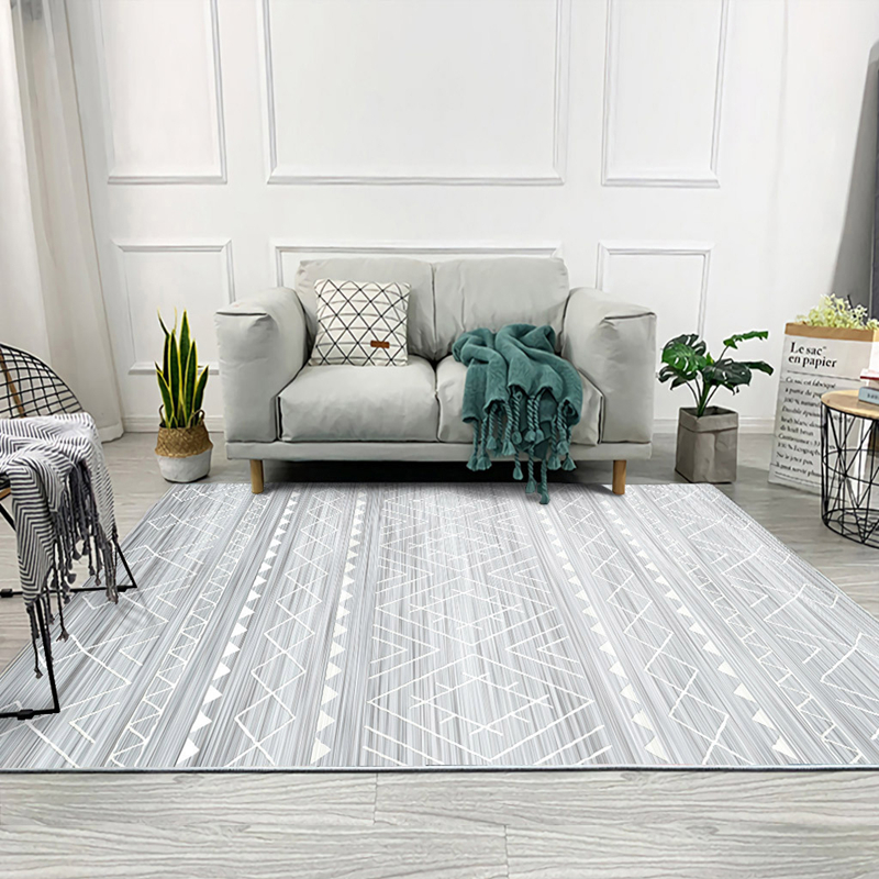 Moroccan Grey Series Carpets For Living