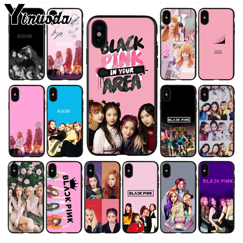 Yinuoda coque for iphone 11 11pro max funda BLACK PINK BLACKPINK k-pop <font><b>kpop</b></font> girl group <font><b>phone</b></font> <font><b>case</b></font> <font><b>cover</b></font> for iPhone 8 7 6 6S Plus X XS MAX XR 5 5S SE 5C <font><b>case</b></font> image