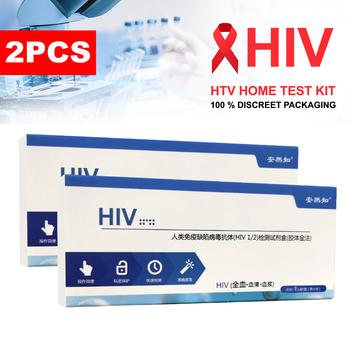 2 sztuk w domu HIV1 2 zestaw badań krwi zestawy do testowania AIDS HIV (99 9 dokładne) cała krew Serum plazma Test prywatności szybka wysyłka tanie i dobre opinie CN (pochodzenie) Nie posiada Lusterko do makijażu