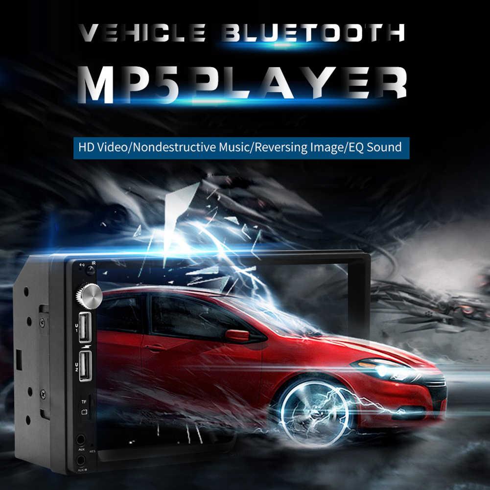 車 MP3 プレーヤー 7 インチカーラジオの bluetooth ミラーリンクビデオ MP5 プレーヤーバックミラーカメラ