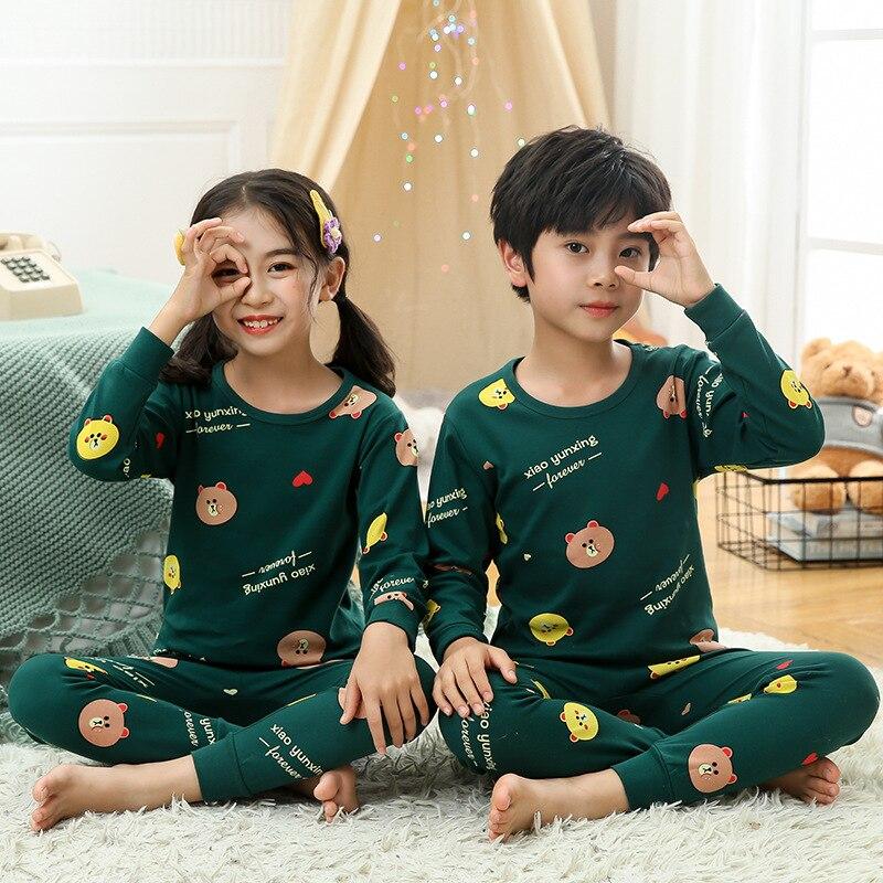 algodao criancas homeswear casual meninos manga comprida 04
