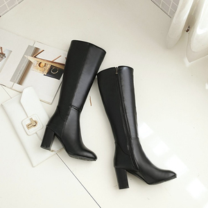 Image 4 - Womens Fashion Boots Knee High Slim Boots Solid Color Riding Boots Women Elegant Side Zip Comfortable Boots Plus size Shoes
