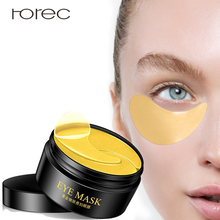 ROREC 24K Gold Eye-Mask Anti-Aging Moisturizing Eye Sleep Mask Removal Dark Dircles Against Puffiness And Bags Care 60Pcs