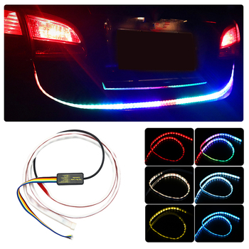 Flowing LED Car Turn Signal Light Rear Tail Light Strip DRL Daytime Running Light FOR BMW M G30 F10 E53 E46 VW Passat Golf Polo image