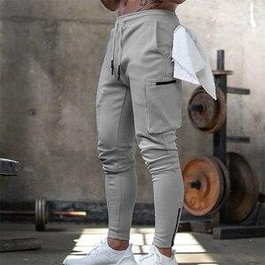 Мужские спортивные штаны для бега Pnats, мужские спортивные штаны для занятий фитнесом, хлопковые брюки, мужские повседневные Модные обтягивающие спортивные штаны, дизайнерские штаны на молнии