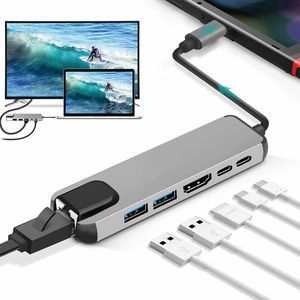 Image 3 - USB HUB C HUB to Multi USB 3.0 HDMI Adapter Dock for MacBook Pro Accessories USB C Type C 3.1 Splitter 3 Port USB C HUB
