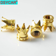 12pcs/lot Gold Silver Car Truck Motocycle Bike Crown Shaped Tire Wheel Stem Air Valve Cap High Quality Tyres Accessories