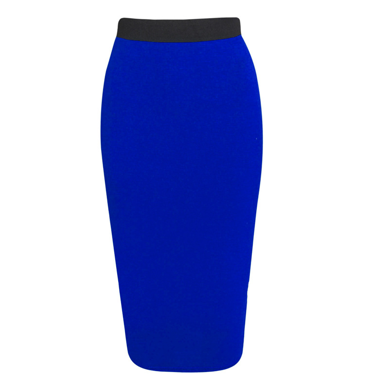 Womens Skirts Ladies Work Solid Casual Fashion Business Bottoms Plus Size Evening Slim Fit