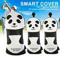 3 шт. напечатанные Чехлы для клюшек для гольфа с изображением панды  набор налобных крышек для водителей  Защитные чехлы для фарватера SEC88