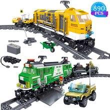 Criadores de design de manutenção ferroviária trem blocos de construção modelo cidade série crianças brinquedos educativos presentes natal
