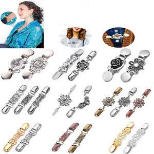 Cardigan Brooches Sweater Shawl Clips Pearl Spider Charm Brooch Pins Clip Collar Duck-mouth Jewelry Brooches DIY(China)