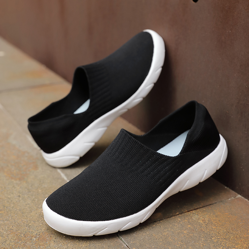 Image 4 - STQ 2020 Autumn Women Shoes Sock Sneakers Women Slip On Casual Flat Shoes Plus Size Loafers Flats Walking Shoes Female 1909Womens Flats   -
