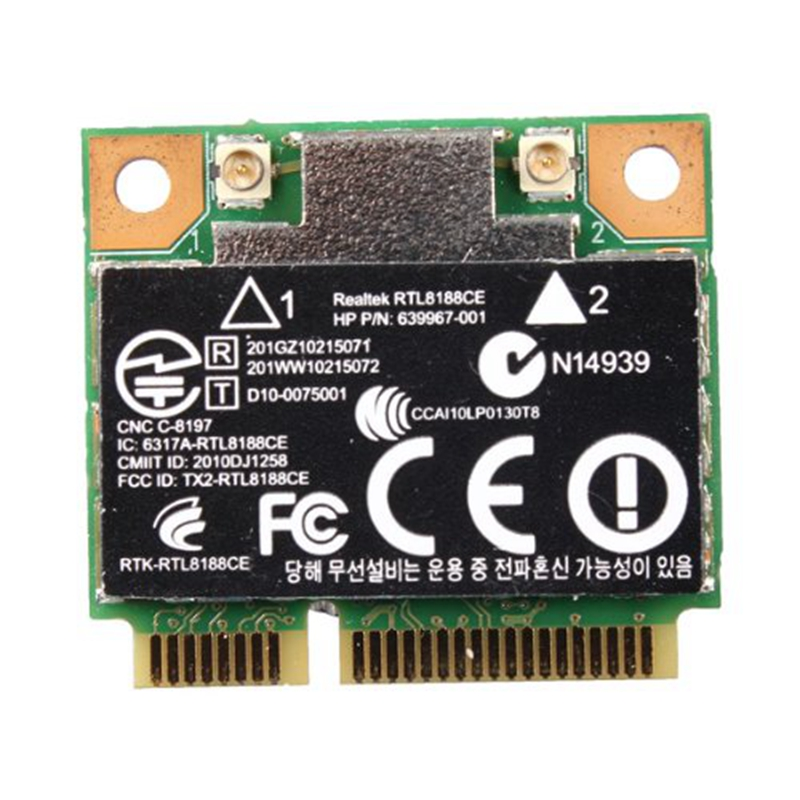 150Mbps WiFi Mini PCI-E Network Card For HP Realtek RTL8188CE Wireless-N 802.11 B/G/N 640926-001 639967-001