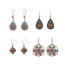 Multiple Vintage Ethnic Dangle Drop Earrings for Women Female Anniversary Bridal Party Wedding Jewelry Ornaments Accessories 2019 new vintage ethnic ear hook dangle drop earrings for women female stone bridal party wedding jewelry ornaments accessories