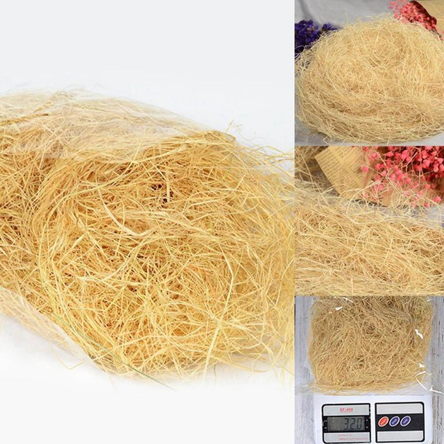 Nesting Raffia Grass - Eco-Friendly Lightweight - Finches & Canaries Love It! - 30g pack 6