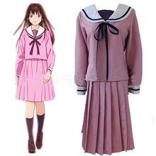 Anime Noragami Aragoto Iki Hiyori okulu kız üniforma Cosplay Sailor elbise cadılar bayramı kadınlar için üst + etek 2 adet Set denizci elbisesi